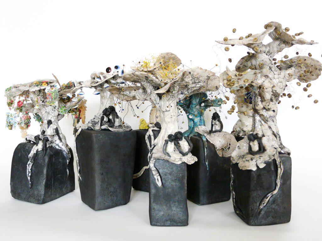 La Forêt imaginaire et enchantée - Sculptures céramique de Florence Lemiegre