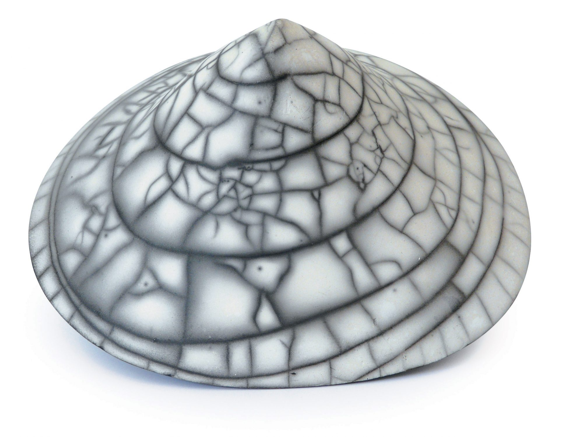 Le spirale - Grès - Raku nu - Sculptures céramique de Florence Lemiegre