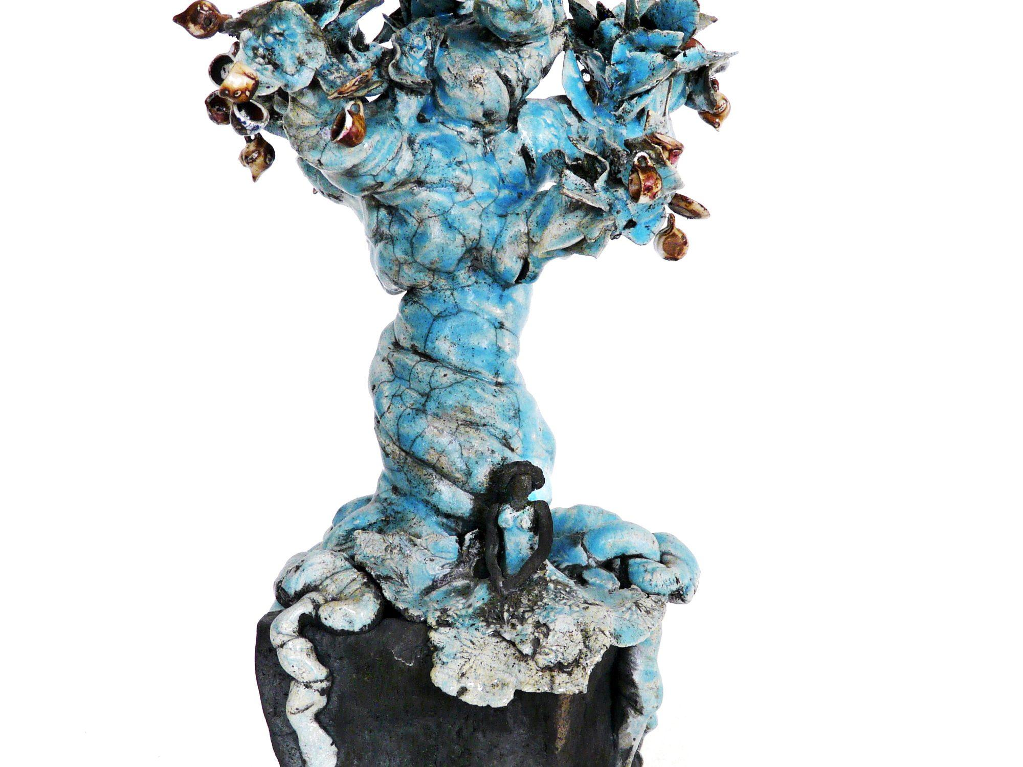 Le Tea time - Grès et porcelaine - Raku - Sculptures céramique de Florence Lemiegre