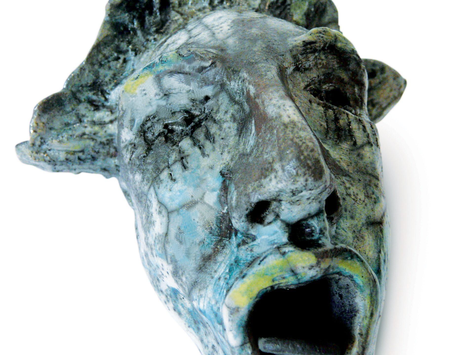 Léo - Grès - Cuisson Raku - Sculptures céramique de Florence Lemiegre