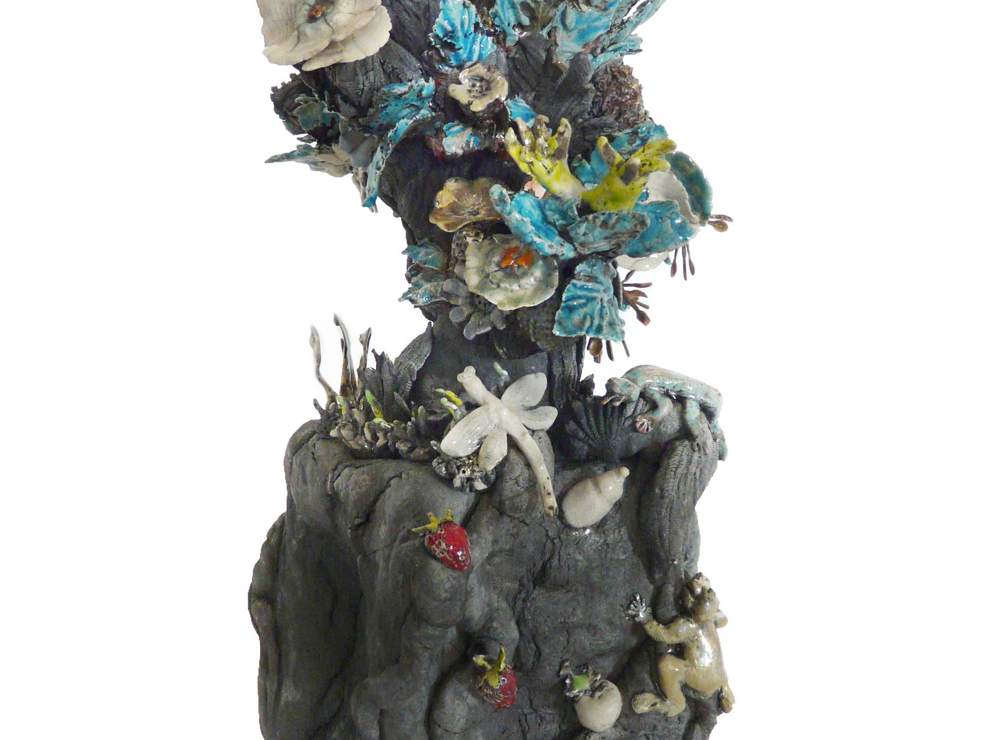 À table sous l'Hortus - Grès – Raku - Sculptures céramique de Florence Lemiegre