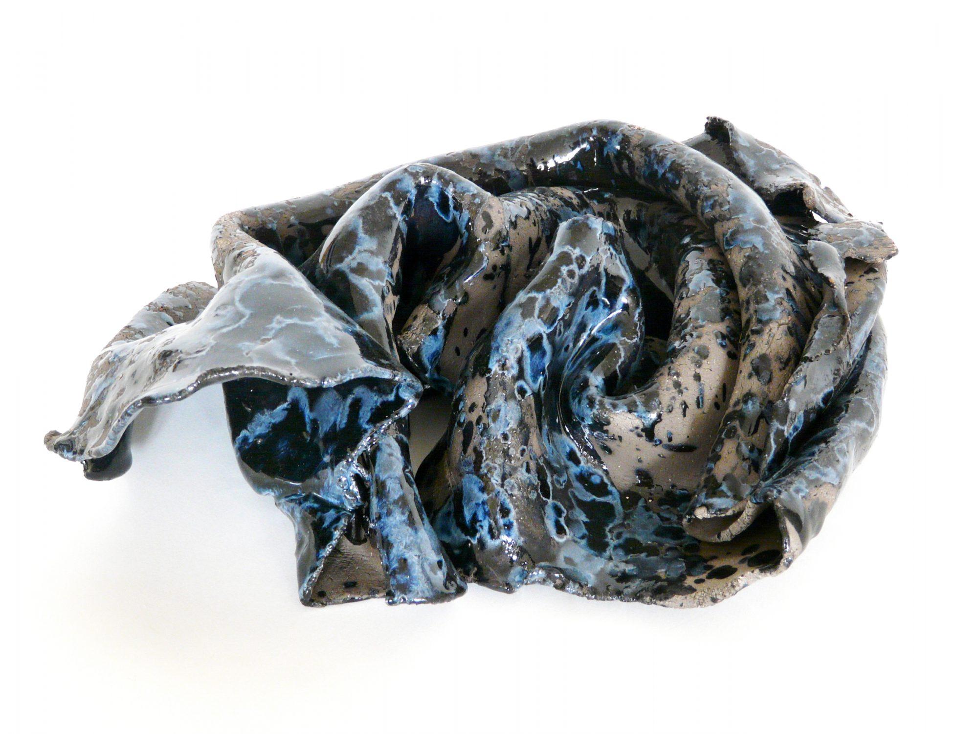 Noli me tangere - Faïence - Terre noire - Sculptures céramique de Florence Lemiegre