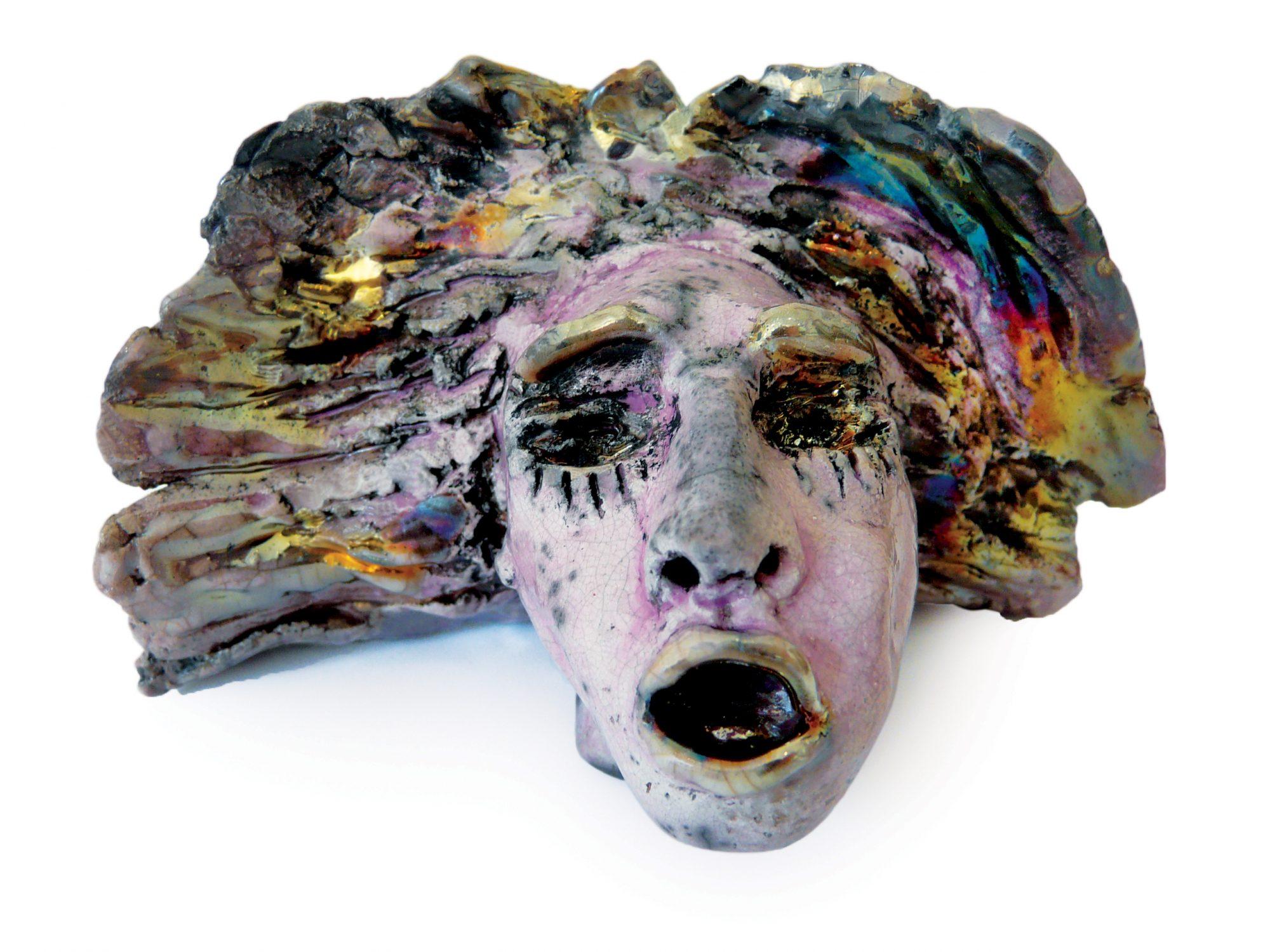 Lio - Grès - Cuisson Raku - Sculptures céramique de Florence Lemiegre