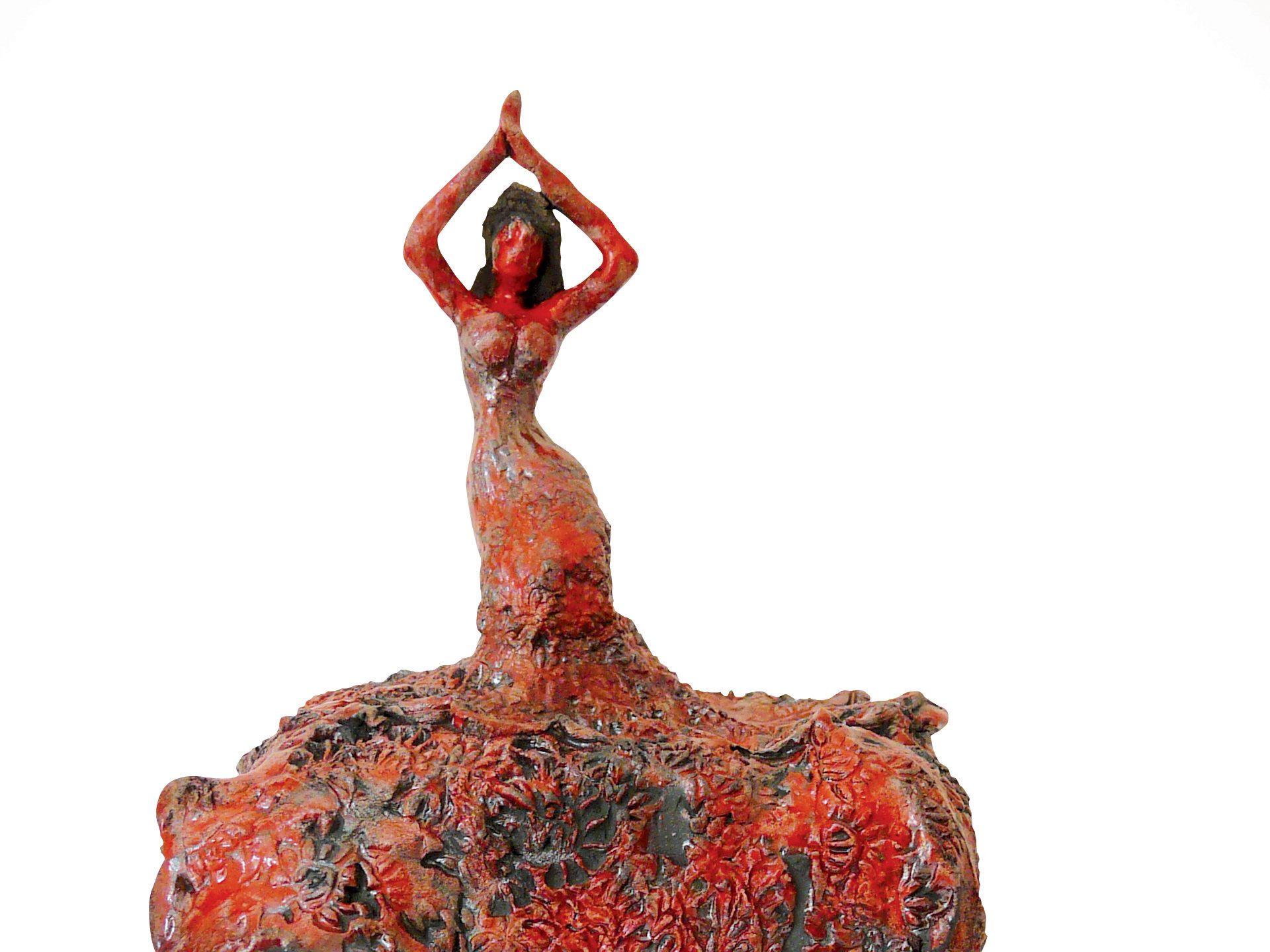 Vamos a bailar - Grès - Raku - Sculptures céramique de Florence Lemiegre
