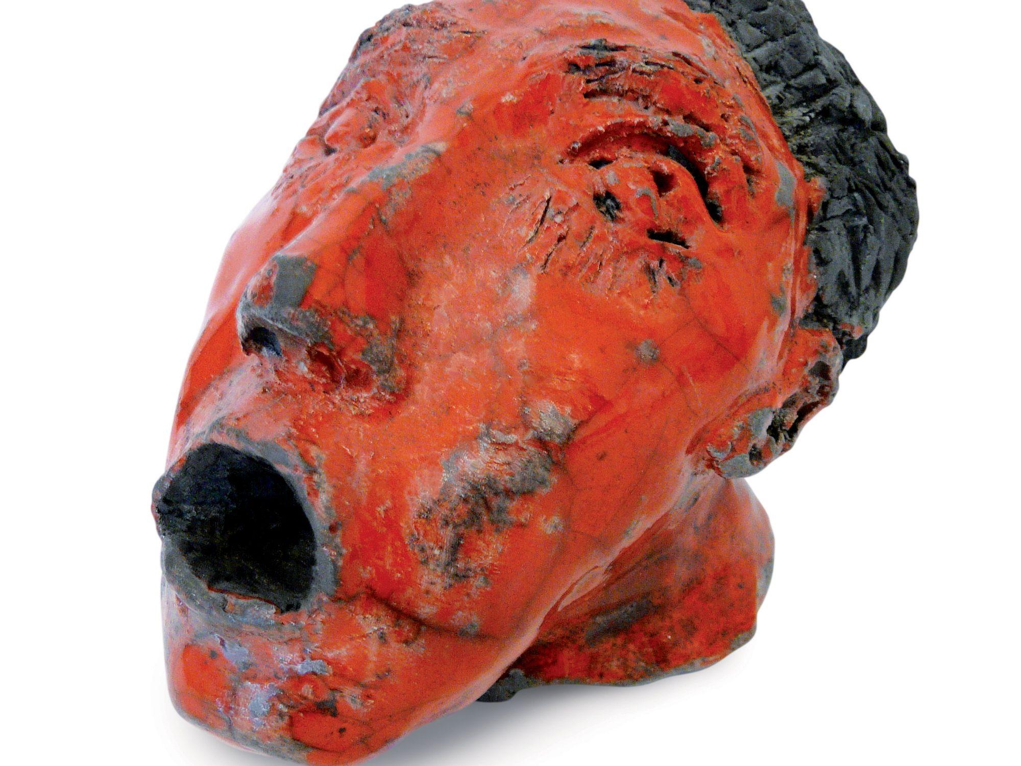 Hugo - Grès - Cuisson Raku - Sculptures céramique de Florence Lemiegre