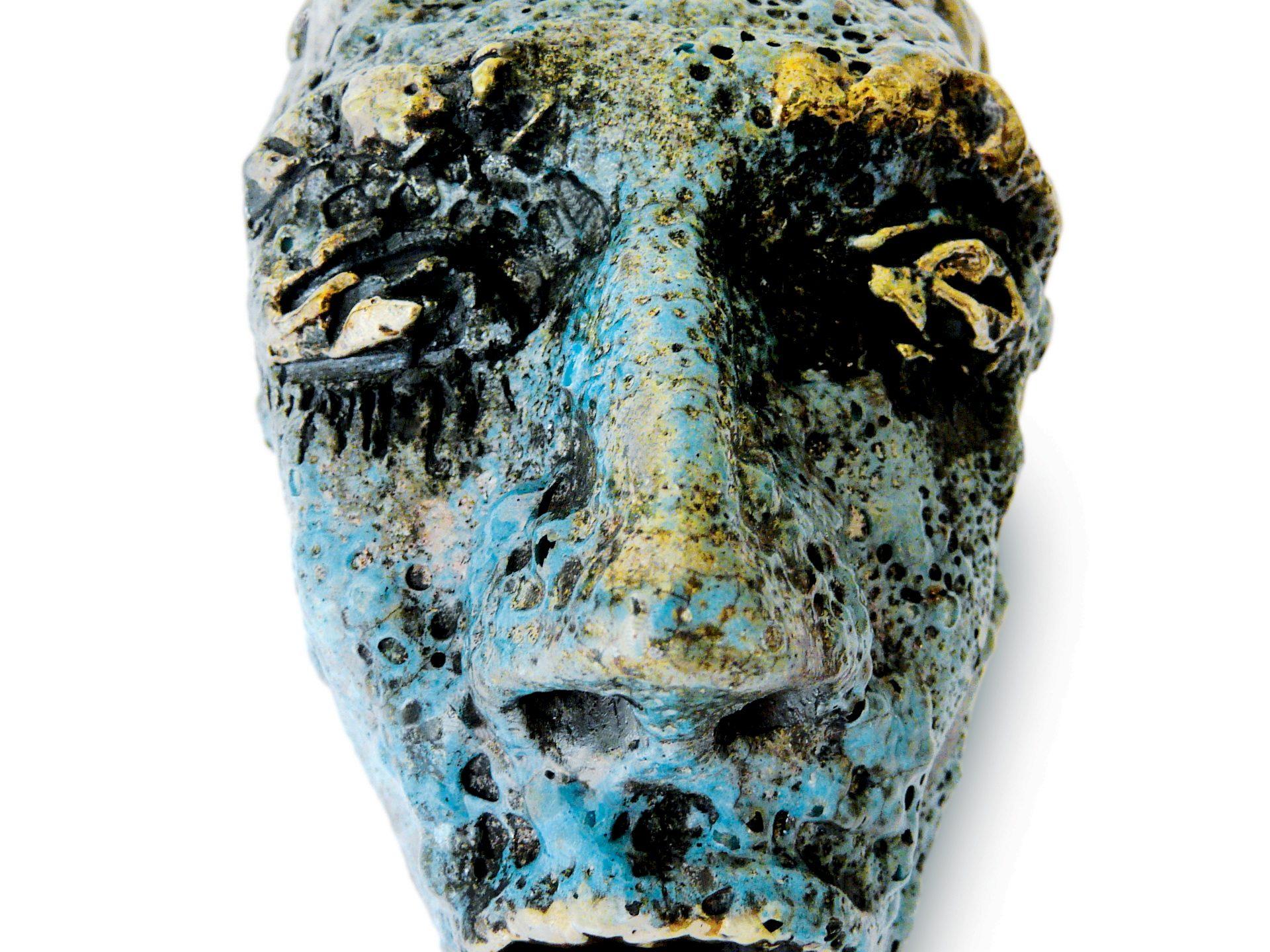 Tétro - Grès - Cuisson Raku - Sculptures céramique de Florence Lemiegre