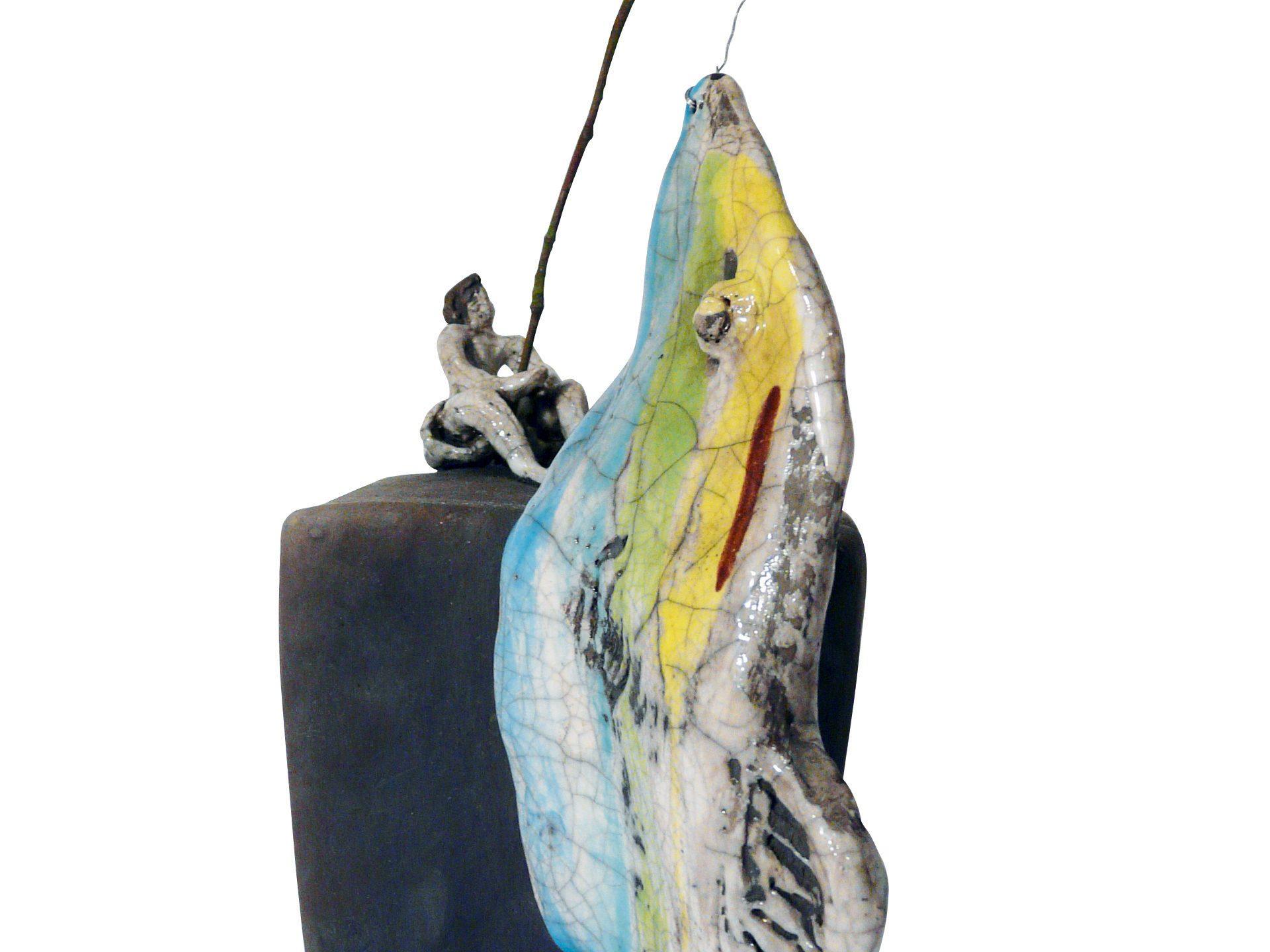 Bonne prise - Grès - Raku - Sculptures céramique de Florence Lemiegre