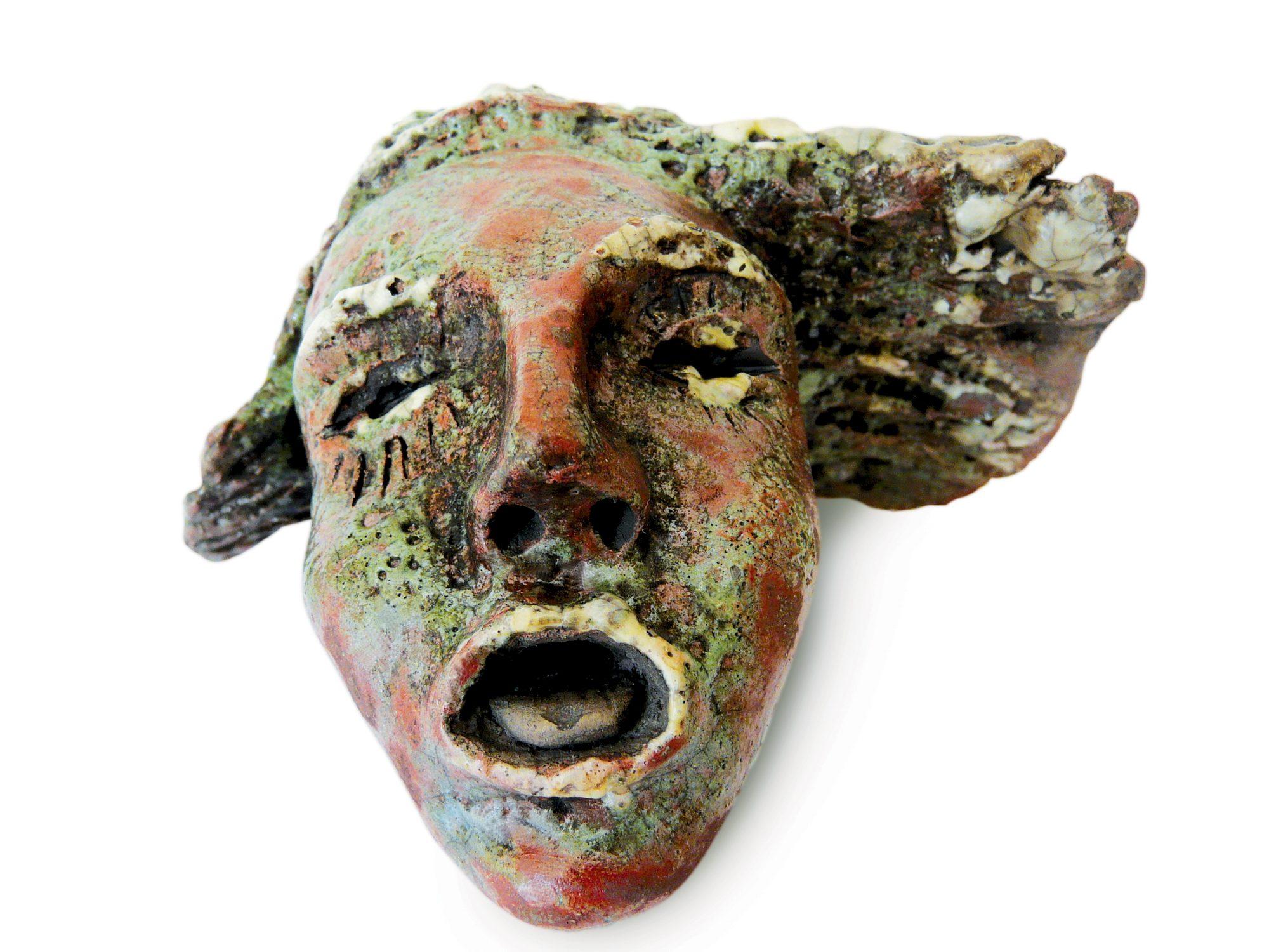 No - Grès - Cuisson Raku - Sculptures céramique de Florence Lemiegre