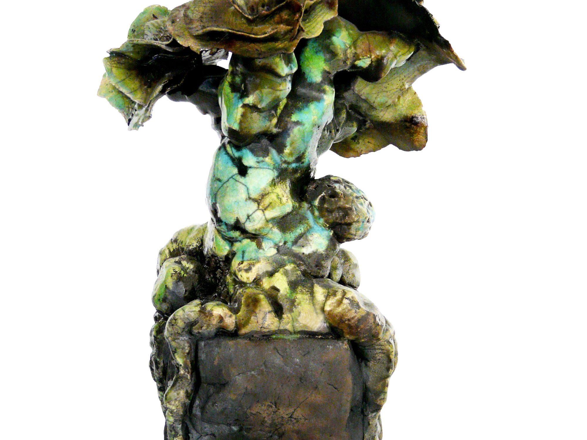 Le T'écoute jamais quand je te parle - Grès - Raku - - Sculptures céramique de Florence Lemiegre