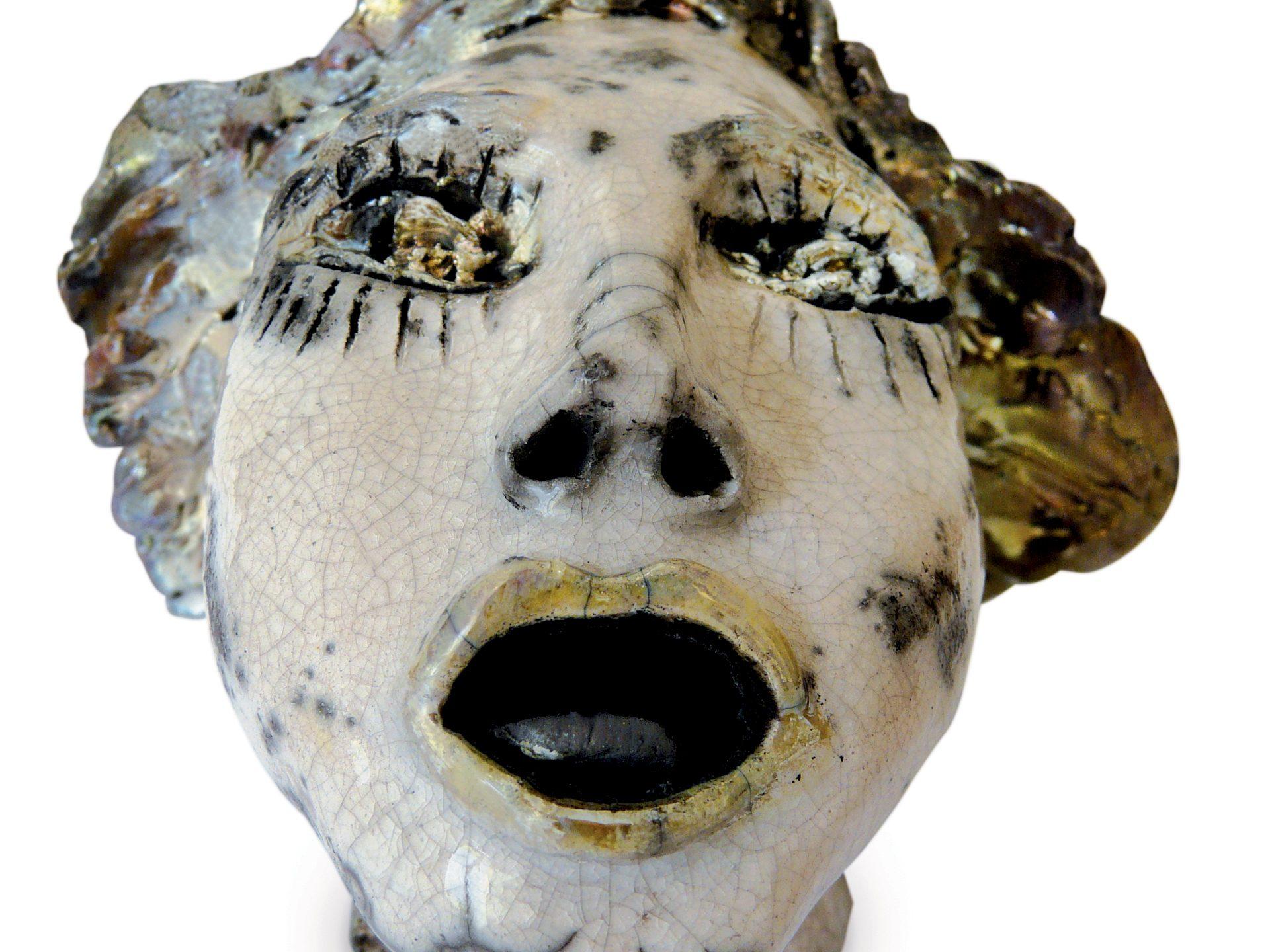 Lilo - Grès - Cuisson Raku - Sculptures céramique de Florence Lemiegre