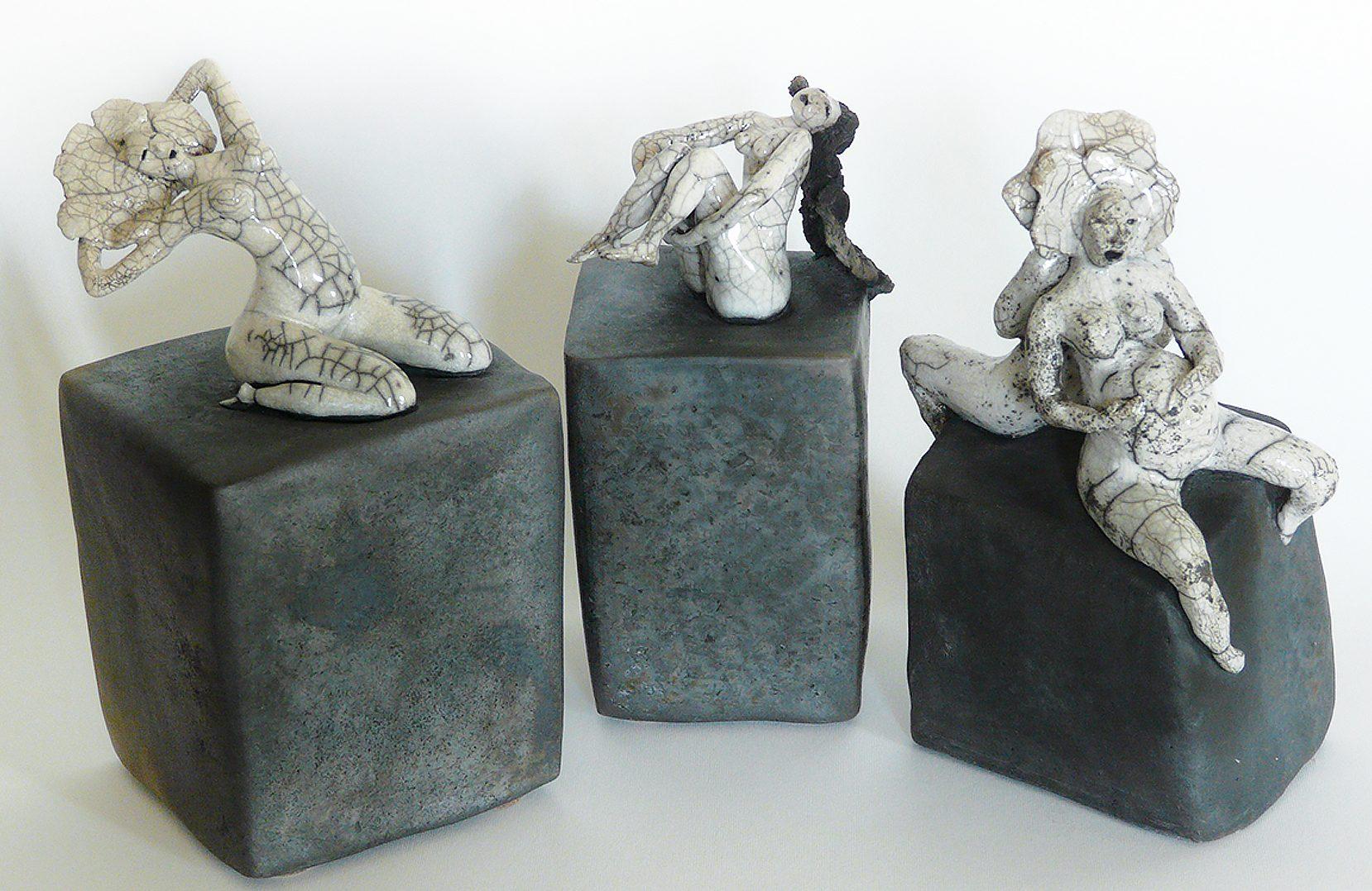 Les Pavés - Les personnages - Sculptures céramique de Florence Lemiegre
