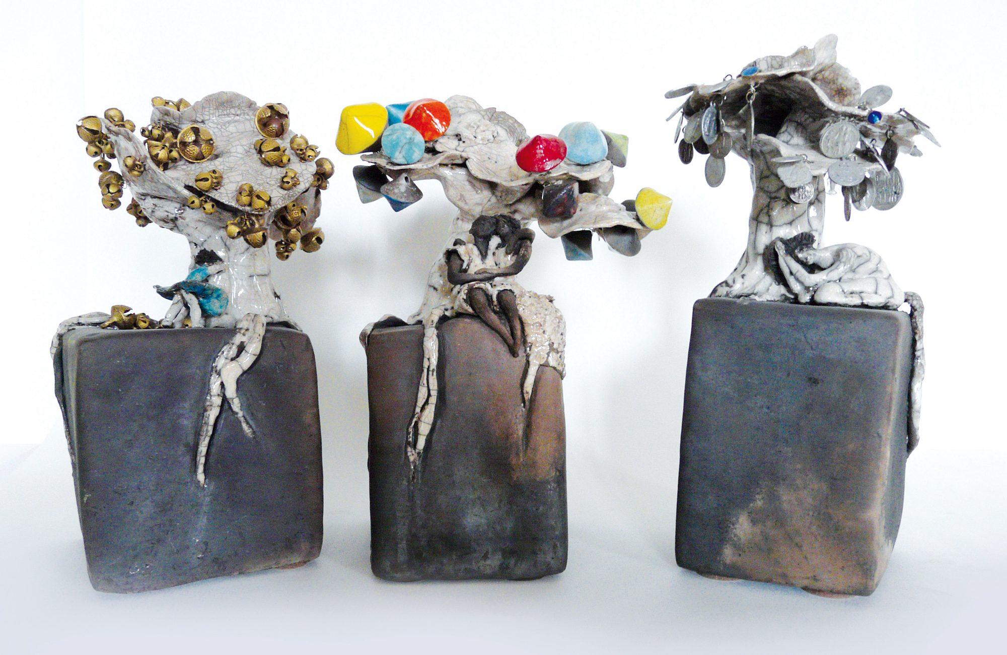 Les Pavés La Forêt imaginaire et enchantée- Sculptures céramique de Florence Lemiegre
