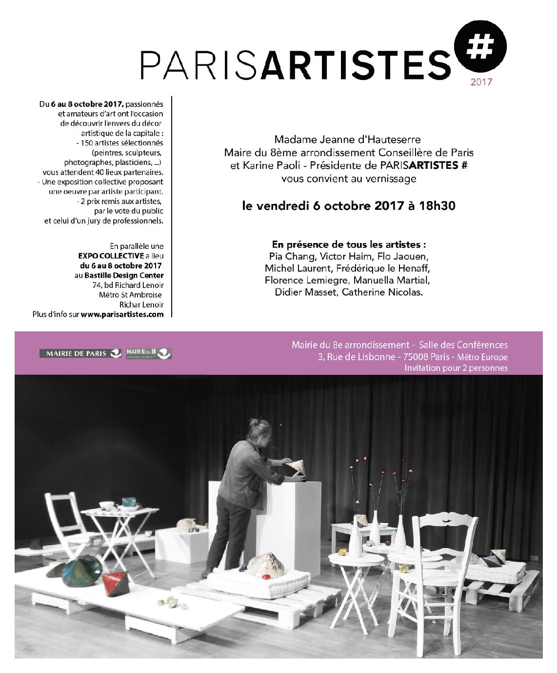 ParisARTISTES #2017 - Paris - Sculptures Céramique de Florence Lemiegre