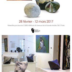 Espace Christiane Peugeot - Paris - Sculptures Céramique de Florence Lemiegre