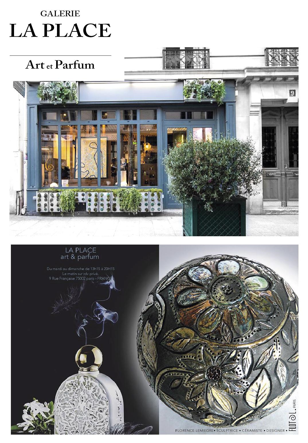 Galerie LA PLACE - Art et Parfum - Sculptures céramique de Florence Lemiegre