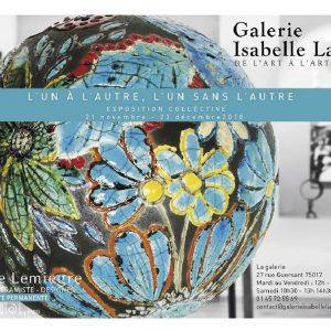 Exposition L'un à l'autre, l'un sans l'autre - Galerie Isabelle Laverny - Paris - Sculptures Céramique de Florence Lemiegre