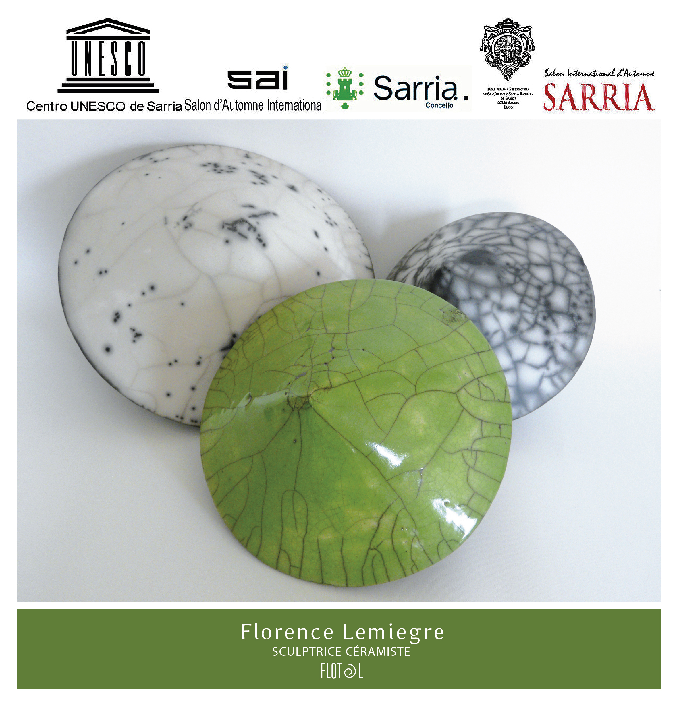 Salon international d'art contemporain de Sarria - 2015- Espagne - Sculptures céramique de Florence Lemiegre