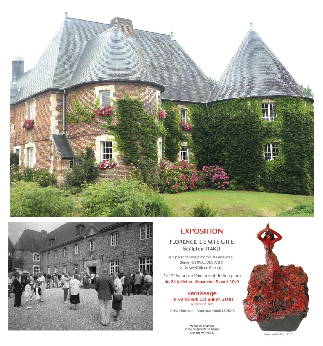 42e Salon des Amis des Arts du Manoir de Briançon - Criel-sur-Mer - Sculptures Céramique de Florence Lemiegre