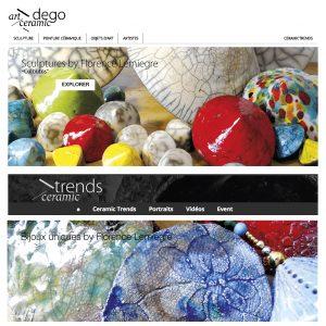 Les galeries Artceramic DegoTrade et Ceramic DegoTrade - Sculptures céramique de Florence Lemiegre