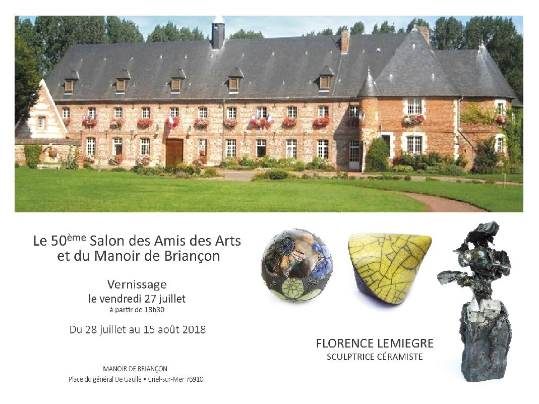 50e Salon des Amis des Arts et du manoir de Briançon - Criel-sur-Mer - Sculptures Céramique de Florence Lemiegre