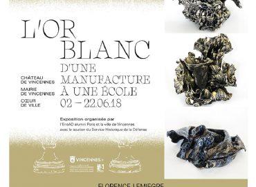 L'or Blanc - D'une manufacture à une école - Vincennes - Sculptures Céramique de Florence Lemiegre