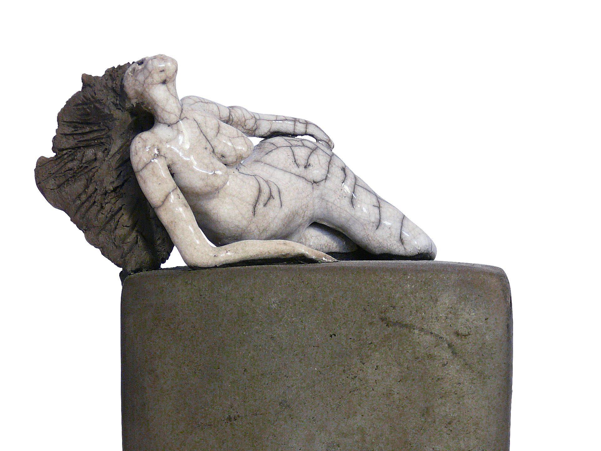 L'alanguie - Grès - Raku - Sculptures céramique de Florence Lemiegre