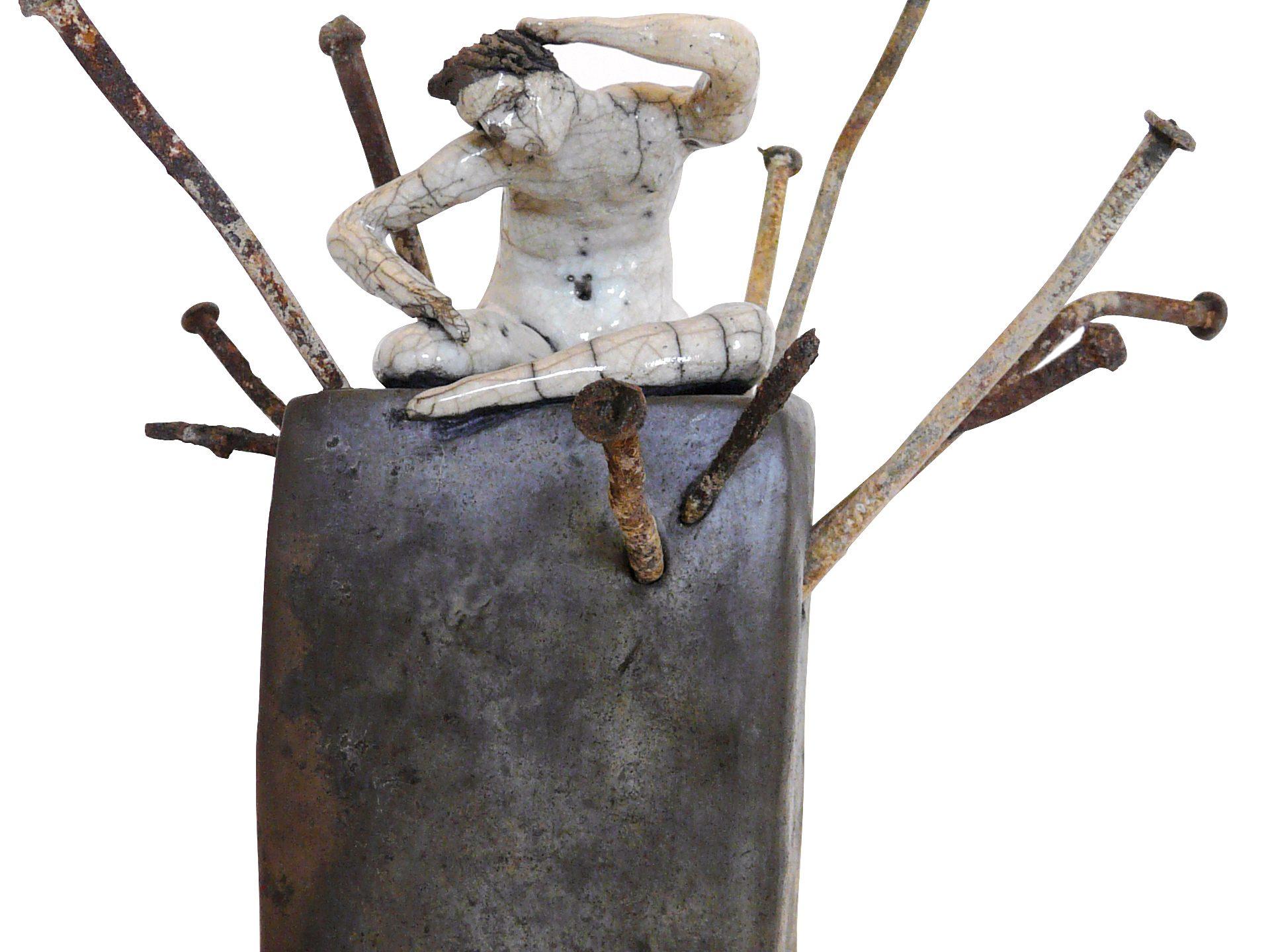 L'empreinte - Grès - Raku - Sculptures céramique de Florence Lemiegre