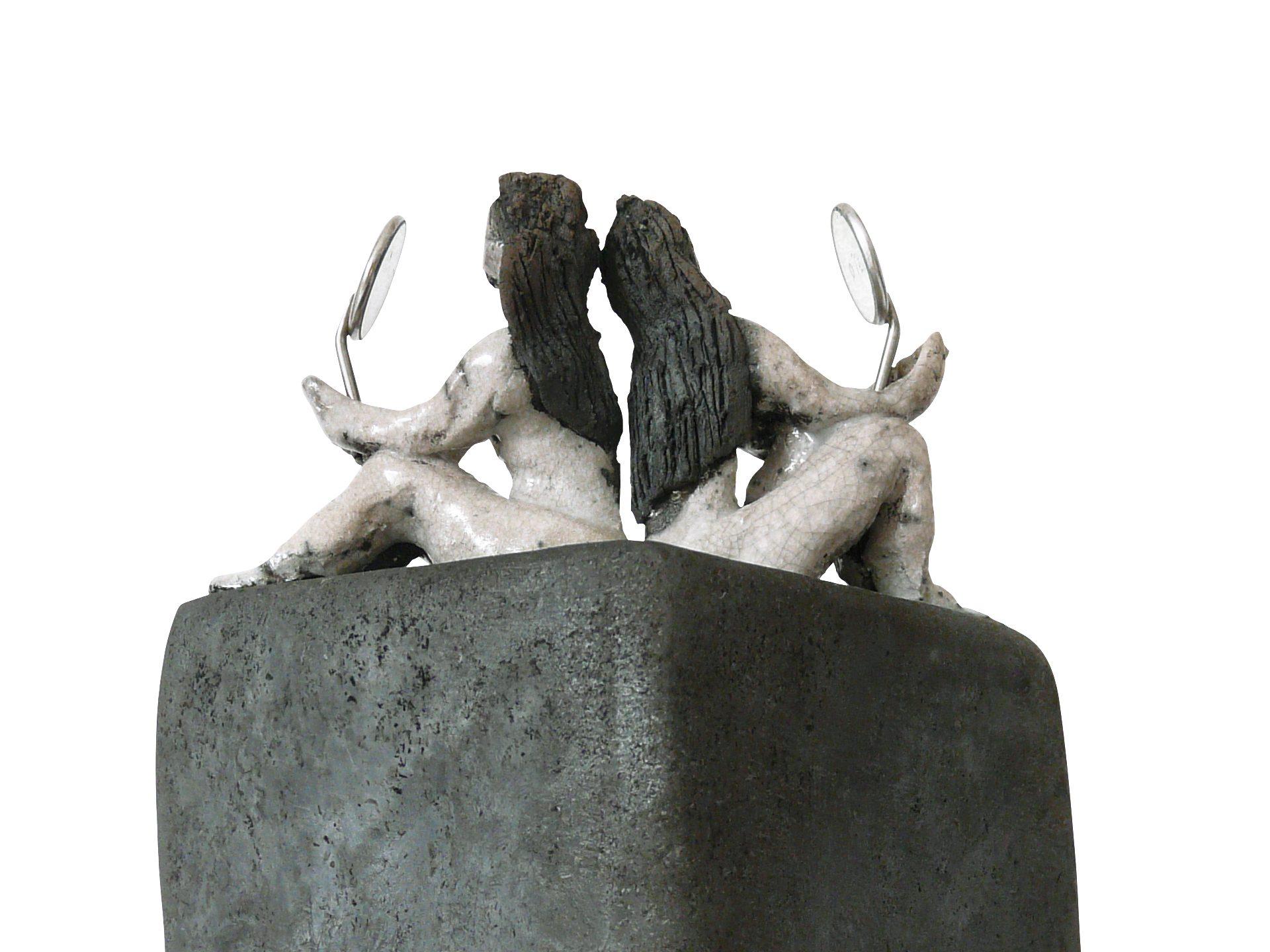 Miroir miroir, dis-moi - Grès - Raku - Sculptures céramique de Florence Lemiegre
