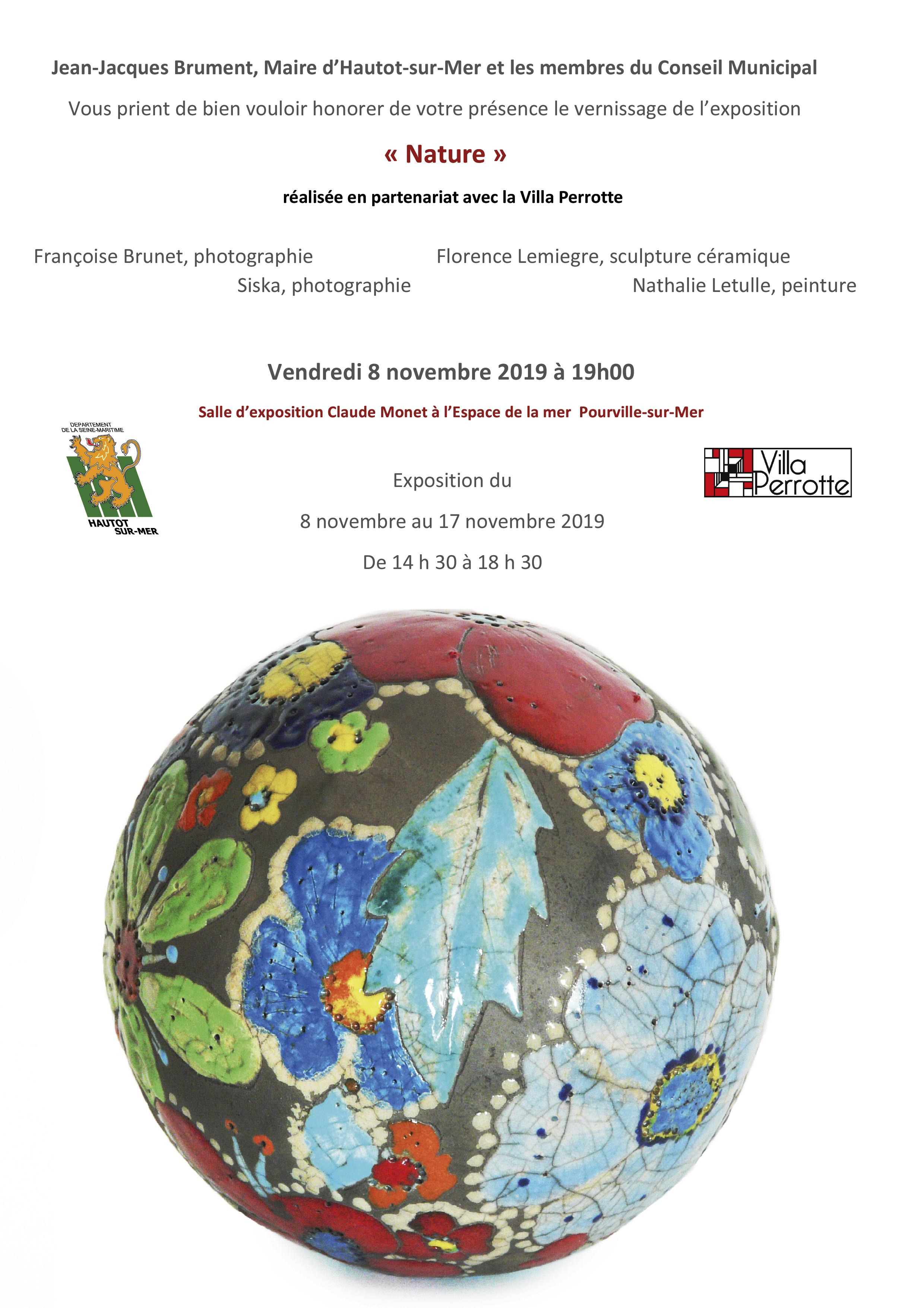 Exposition « Nature », Pourville-sur-Mer - - Sculptures céramique de Florence Lemiegre