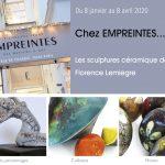 Exposition Empreintes- Sculptures céramique de Florence Lemiegre