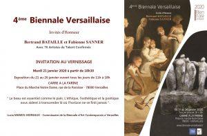 Invitation Vernissage-4e Biennale versaillaise 2020 - Florence Lmeiegre sculptrice céramiste