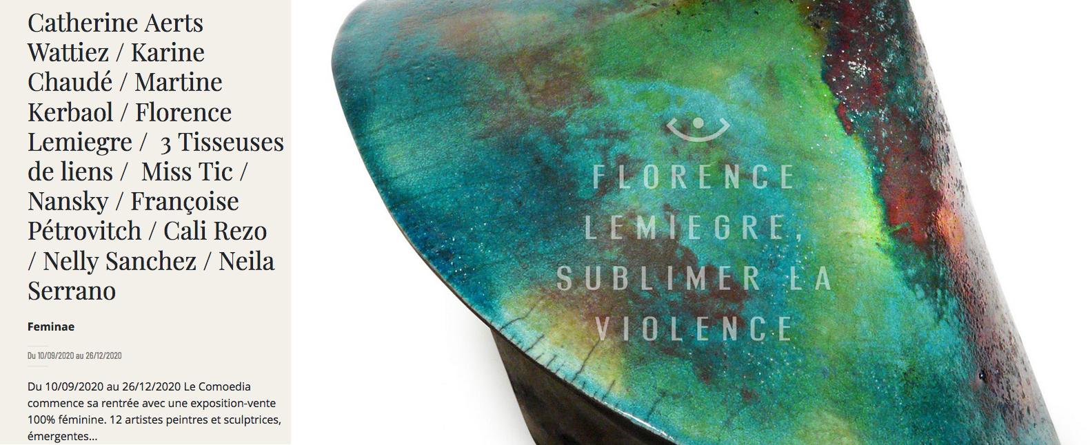 """Exposition """"Feminae"""" à l'Espace d'Art Le Comœdia - Brest - Sculptures céramique de Florence Lemiegre, sculptrice céramiste"""