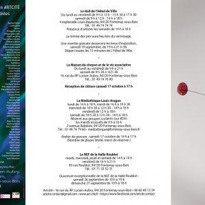 Invitation - Artcité - 2020 - Œuvre de Lemiegre Florence - Sculptrice céramiste