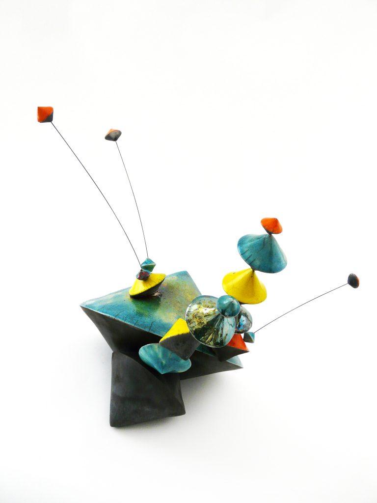 """Culbutos-Serendipity """"Enjoy"""" – 2020 - Sculpture céramique contemporaine - Œuvre de Florence Lemiegre - Sculptrice céramiste"""