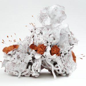 """""""NOLI ME TANGERE-LES PISTILS-CANDIDUS""""-2020-Œuvre de Florence Lemiegre-Sculptrice céramiste-Faience"""