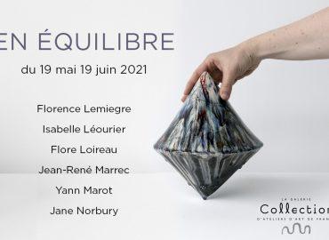 """COLLECTION GALLERY - """"EN ÉQUILIBRE"""" EXHIBITION - ceramic sculptures - Works by Florence Lemiegre - Ceramic sculptor - 6 rue de Picardie - Paris 3rd"""
