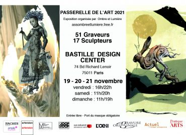 """EXHIBITION """"PASSERELLE DE L'ART 2021"""" - ASSOCIATION OMBRE ET LUMIÈRE - Paris - France - WORKS BY FLORENCE LEMIEGRE-SCULPTRICE CERAMIST"""