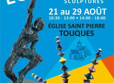 """ÉGLISE SAINT PIERRE DE TOUQUES-HAUTE-NORMANDIE-EXPOSITION """"ÉQUILIBRES""""-TOUQUES-DU 21 AU 29 AOÛT-FLORENCE LEMIEGRE -SCULPTURE CÉRAMIQUE- ÉQUILIBRES-"""