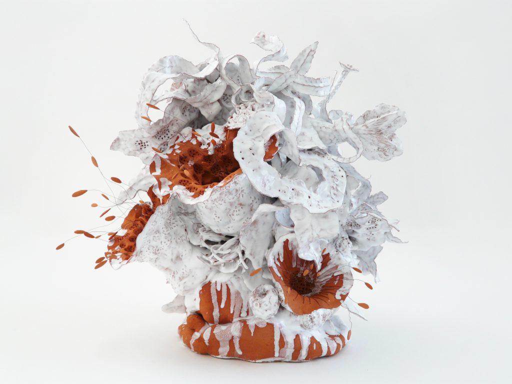 NOLI ME TANGERE PISTILS-CANDIDUS PISCUS-2021-Œuvre de Florence Lemiegre sculptrice céramiste - Océans - Mers - PROTECTION DES OCÉANS - BIODIVERSITÉ - Faïence